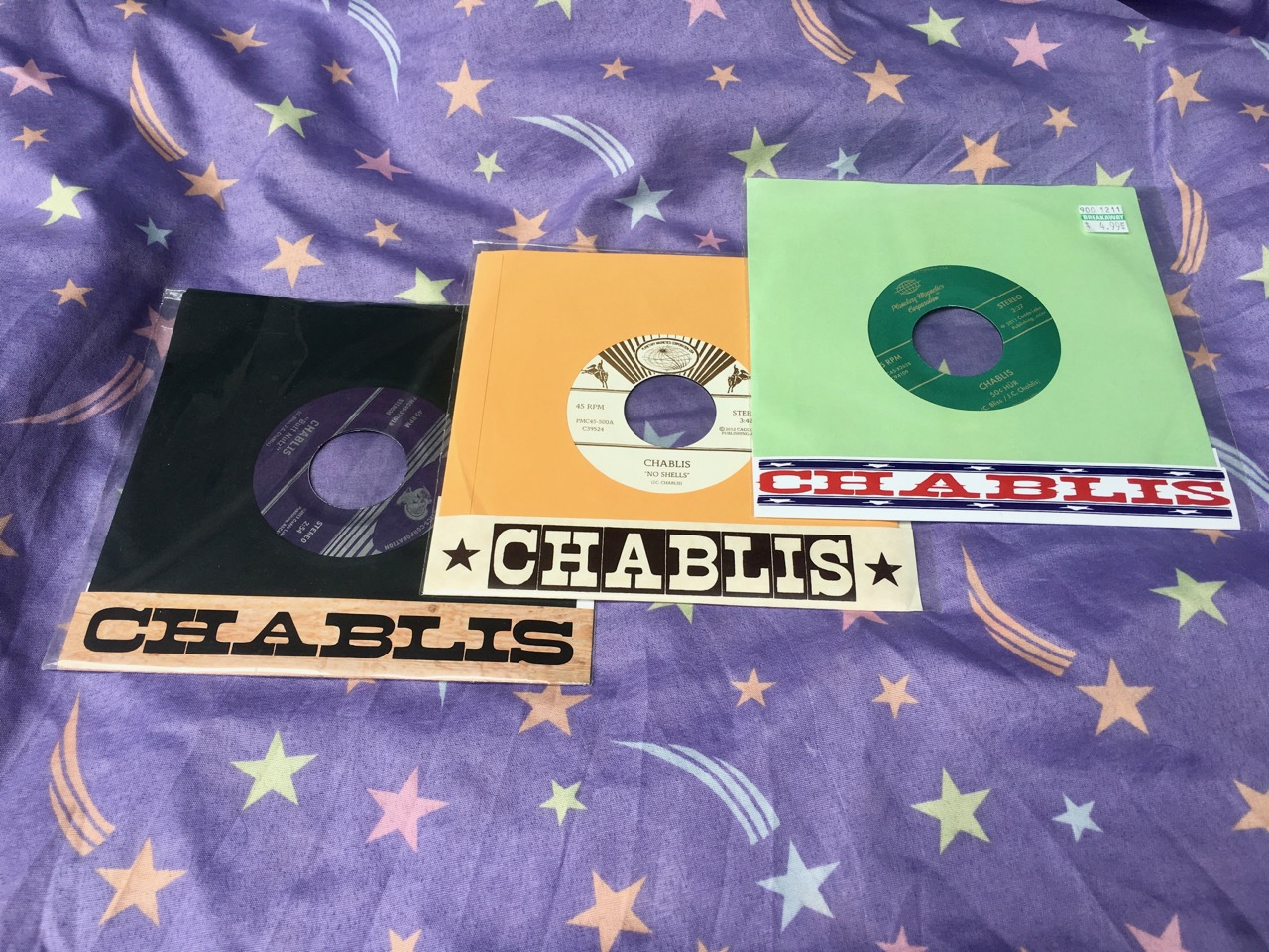 Chablis! - These 45s feature three different lineups of America's premiere alt-alt-country band!Get em HERE!
