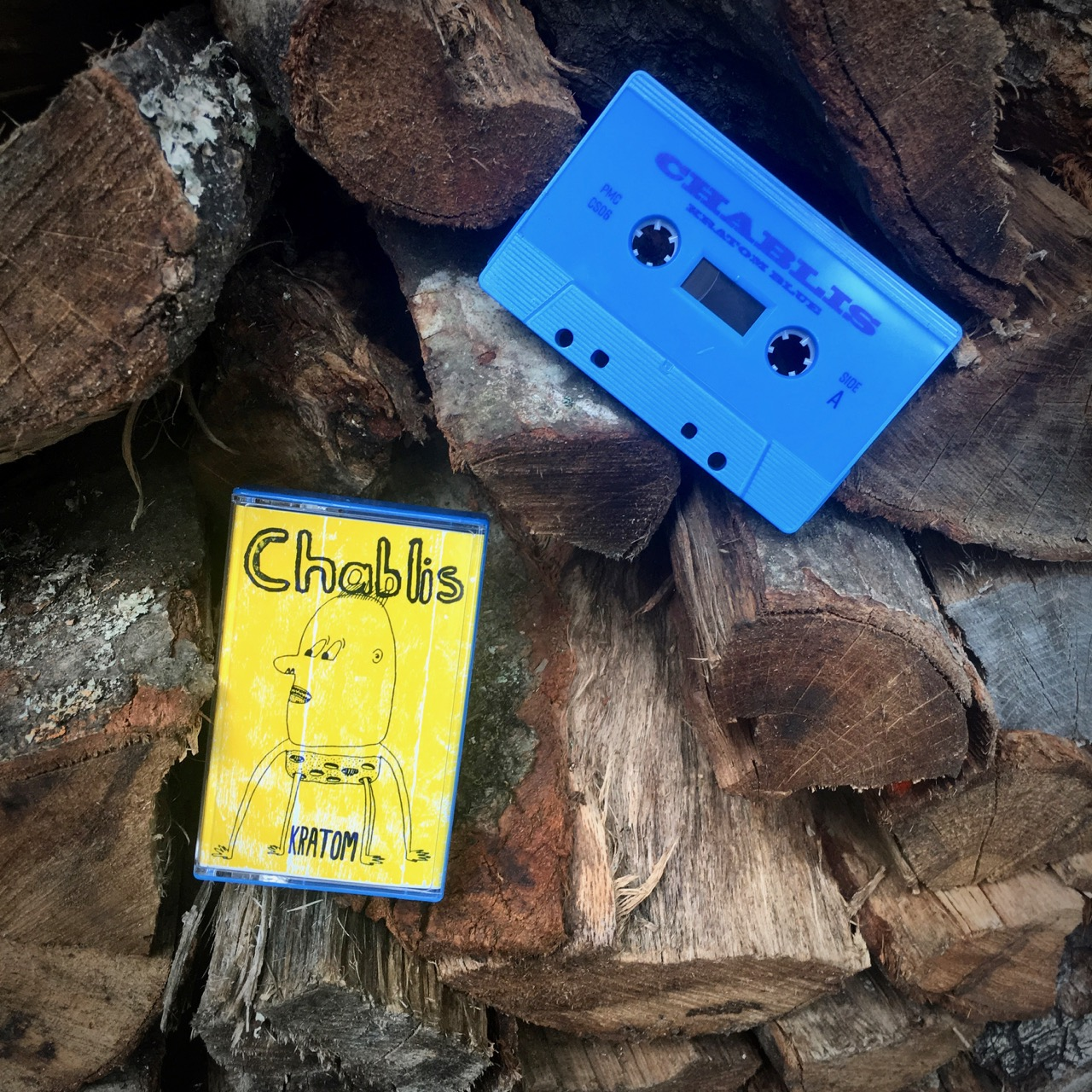 KRATOM BLUE-Chablis - Incongruous alt-alt country. Degenerate Americana. Left-field, piquant, damaged. Charles and Jean-Claude choked on kratom dusts, barbecue, and lake trout during the making of this EP. Two live bonus tracks are included on this cassette release.Listen and buy it HERE