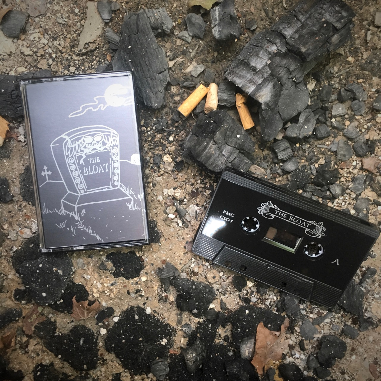 THE BLOAT - Sallow, dissentient rock music recorded with pills in a castle. The Bloat does not care, and they don't like anything. They don't even like each other. They barely made it through this recording session. They have been in hiding since this tape was released. Listen and buy HERE