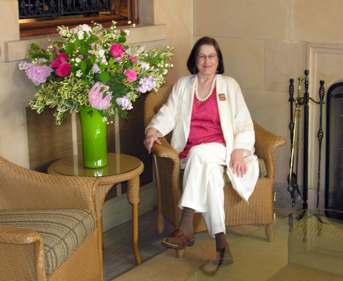 This photo of Christine Carmichael shows her in the solarium of the Governor's mansion in St. Paul, where she selected the furnishings. (Submitted photo)