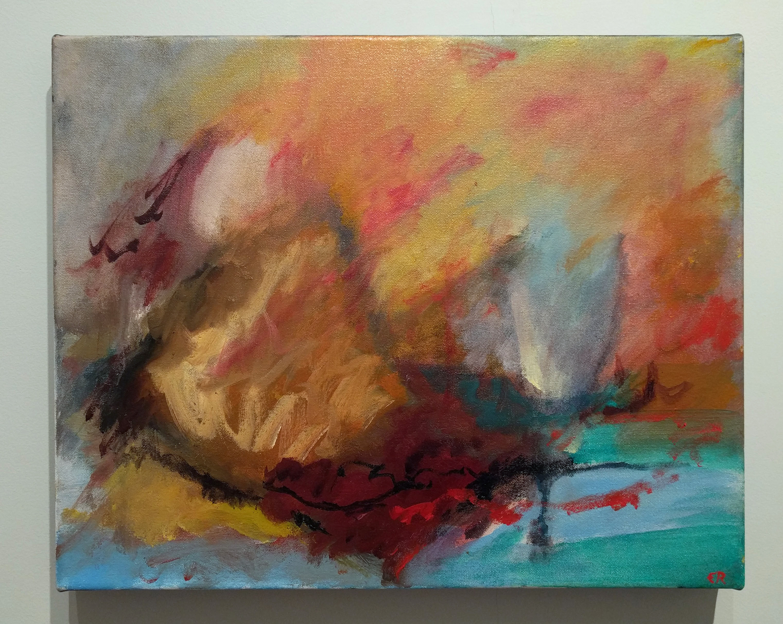 "Elizabeth Rundquist, ""Walk in the Woods"" 2016 oil on canvas, 16 x 20 in."