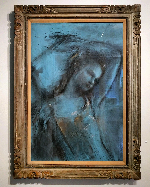 "Cheryl Wheat ""Andantino"" 2016 chalk on prepared rag paper, 36 x 24 in."