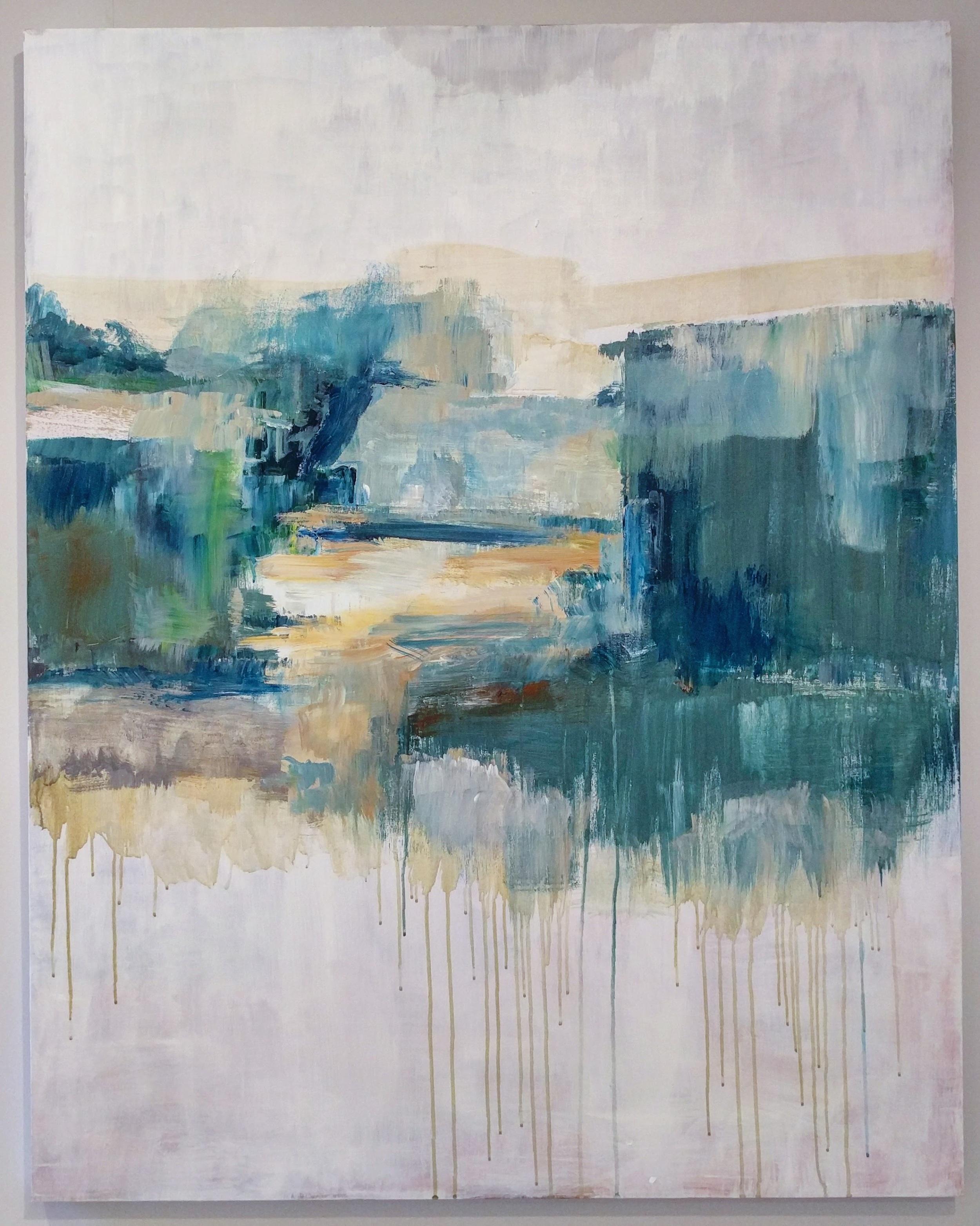 "Suellen Lash ""Bell-Ans Park, Outbuildings"" 2015 acrylic on canvas, 48 x 38 in."