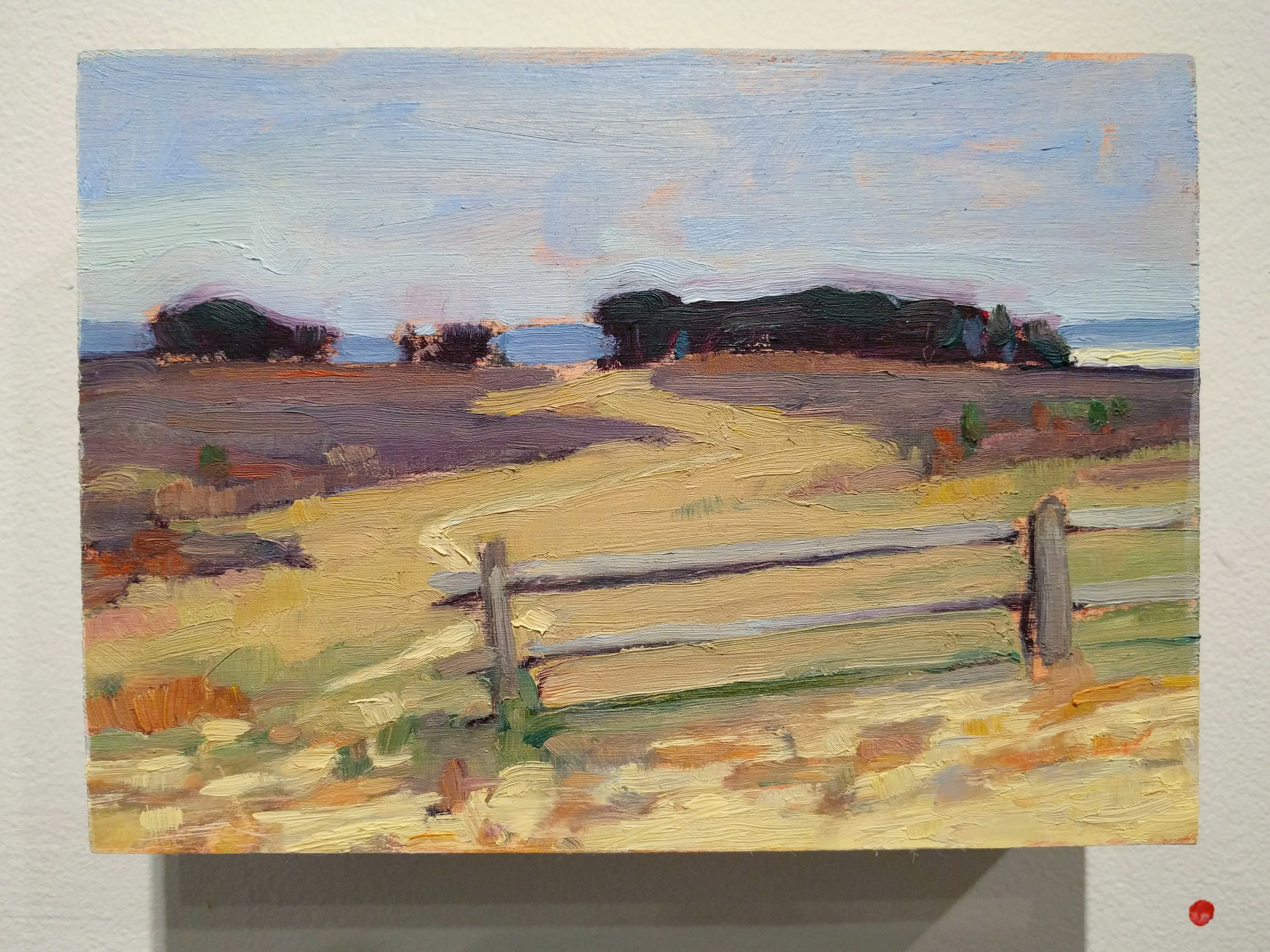 """Stephanie Reiter """"The Road Less Traveled"""" 2016 oil on board, 5 x 7 in."""