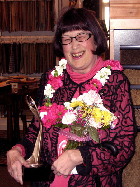 Christine Carmichael was surprised to receive word that she is recipient of the 2008 Athena Award Tuesday.
