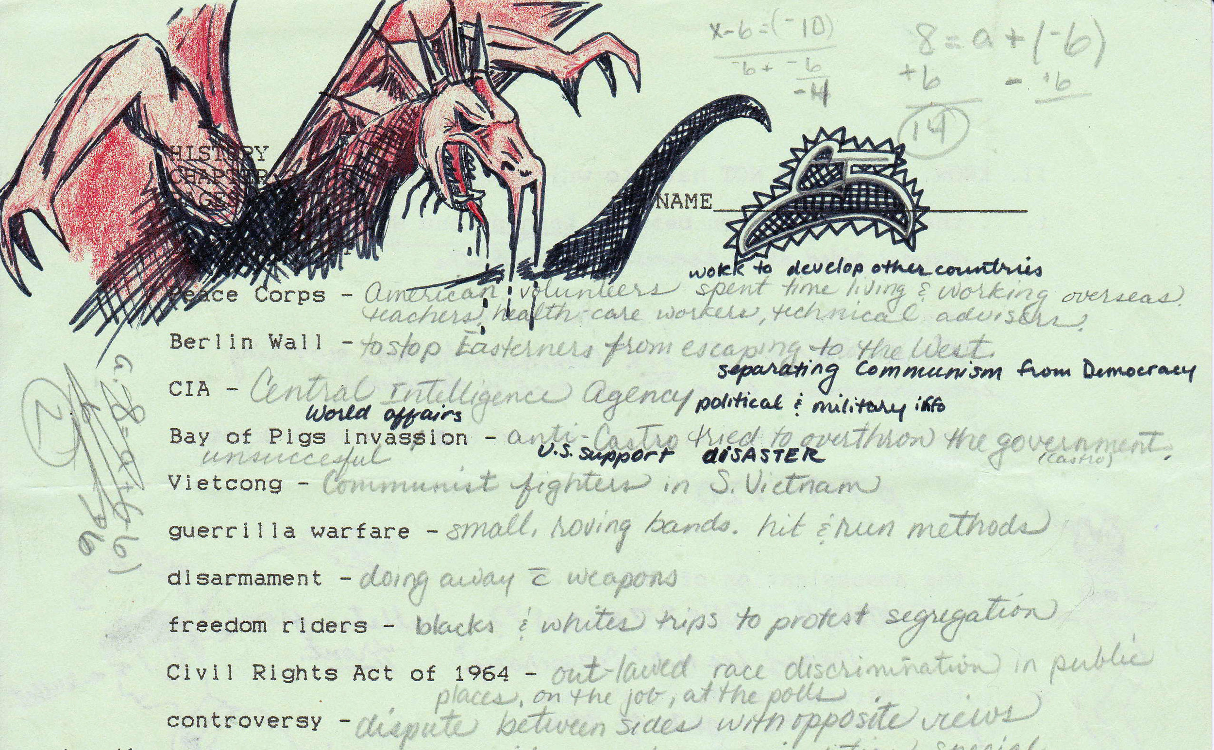 Dragons figured prominently on the borders of my own (political) mappings in grade school.