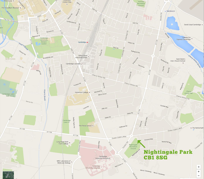 Nightingale Park Map