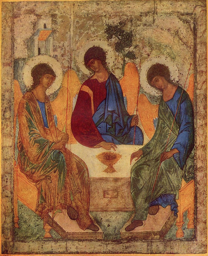 The Trinity  Andrei Rublev  Tempura 15th Century |  Russian