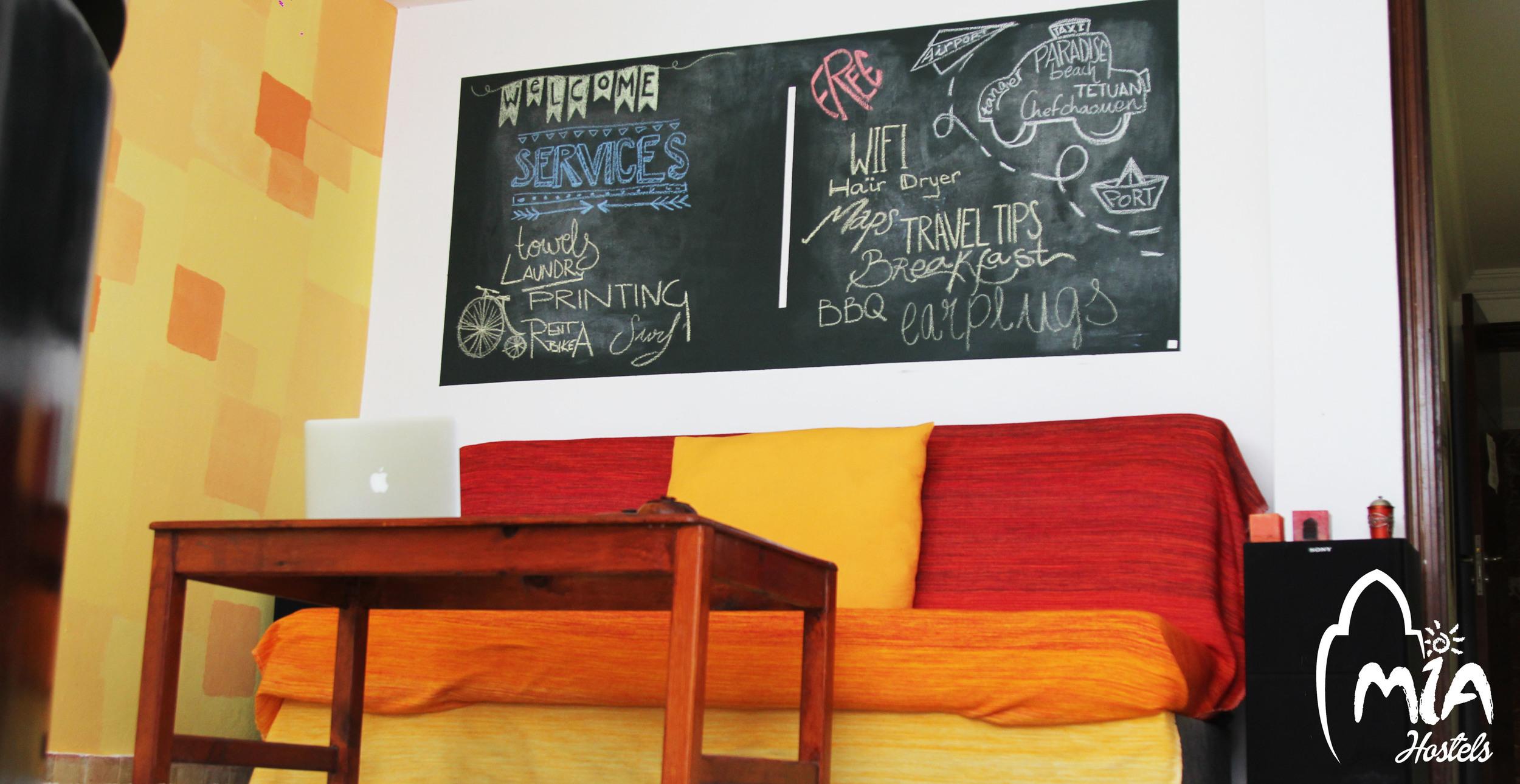 Receptio sofa  MIA Hostel Asilah, Assilah, Arcilah