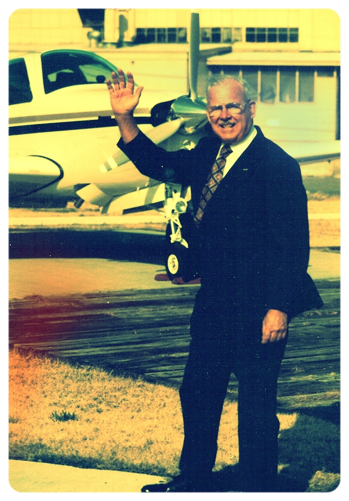 Claud Holbert at Central Flying Service in the late 70's
