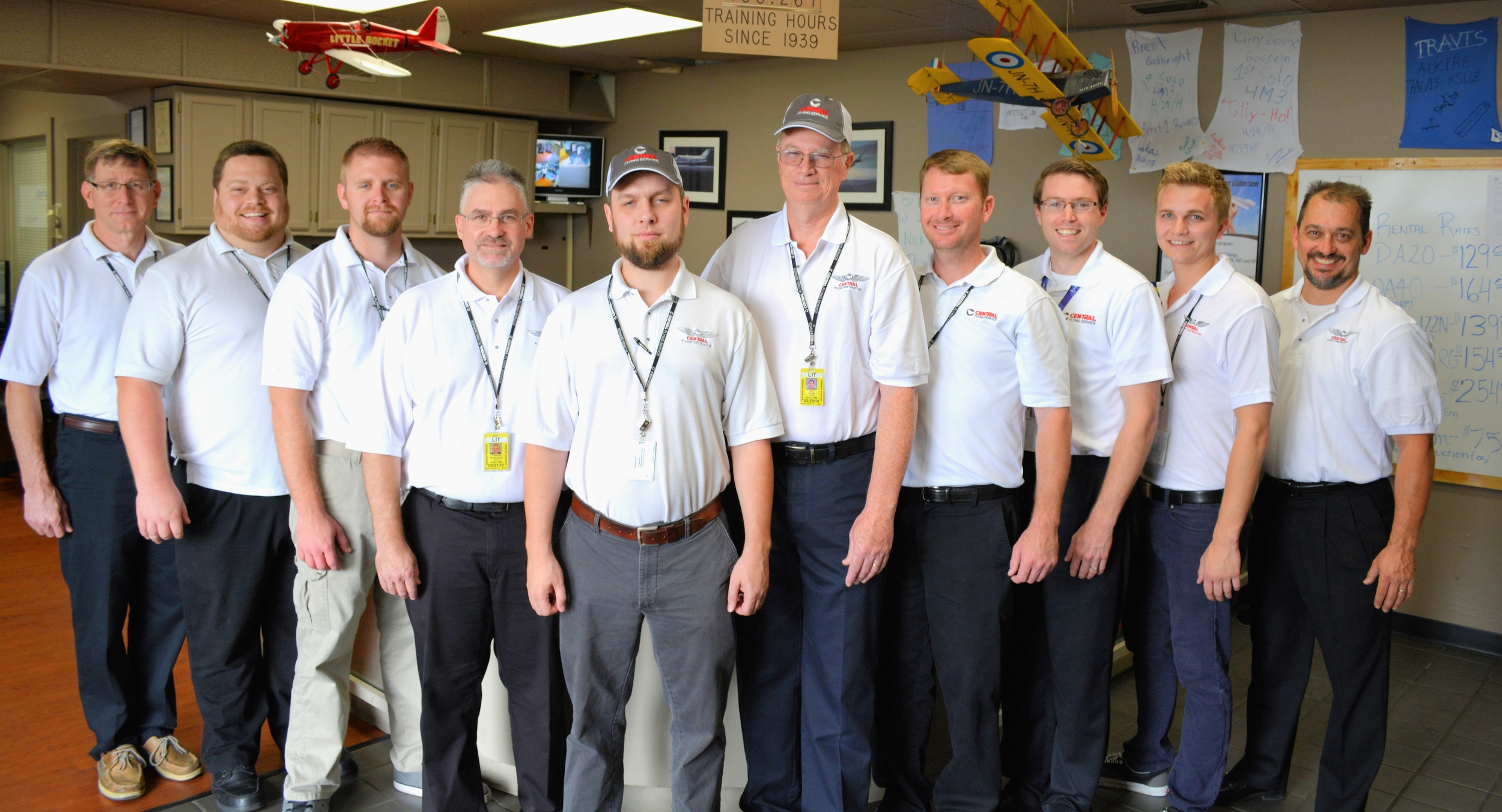 Central's team of  Knowledgeable, Experienced Flight Instructors