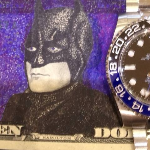 Rolex Batman. #rolex #gmt #batman #art #moneyart.