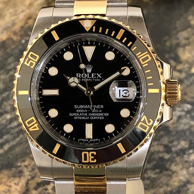 Rolex Submariner 116613. #dallaswatch #rolex #submariner #twotone #watchforsale