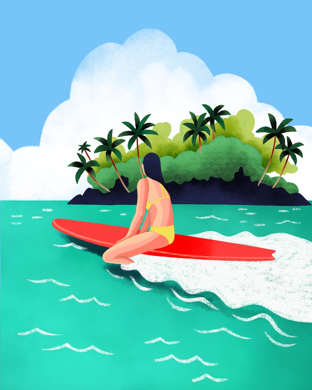 Girl on Red Surfboard.jpeg