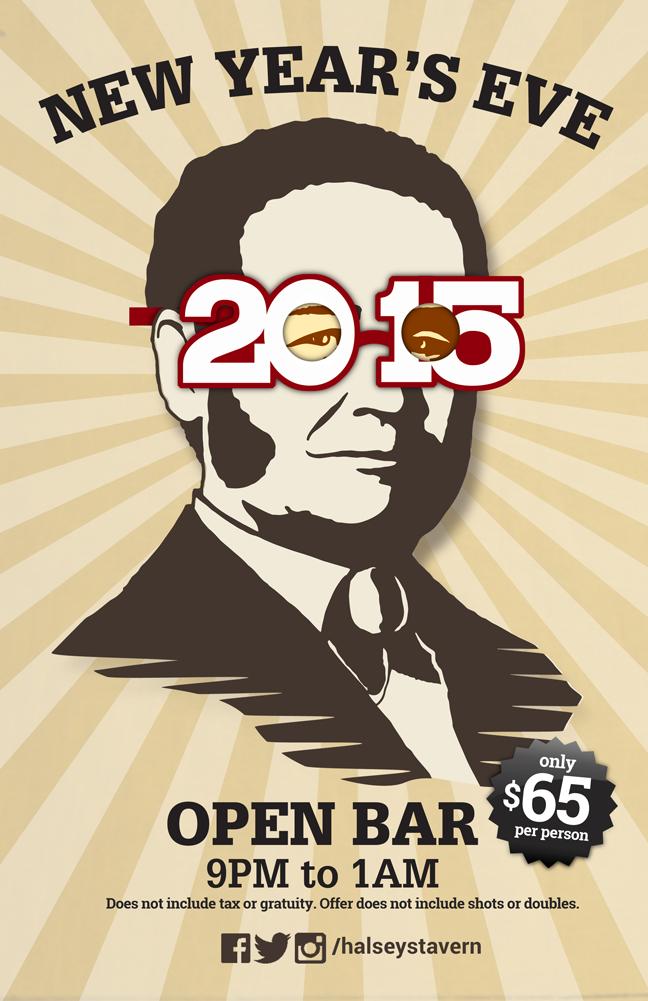 astoria open bar new years eve
