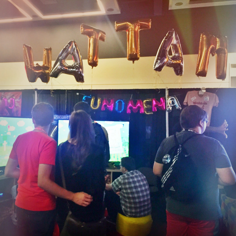Balloon WATTAM was an adventure to set up - including a few popped letters :P