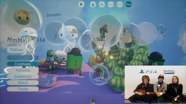 Playing and goofing in the lovely Media Molecule masterpiece Dreams at PSX!!