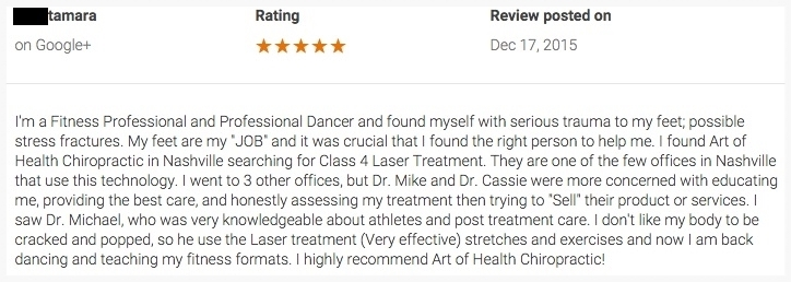 Reviews Nashville Chiropractor