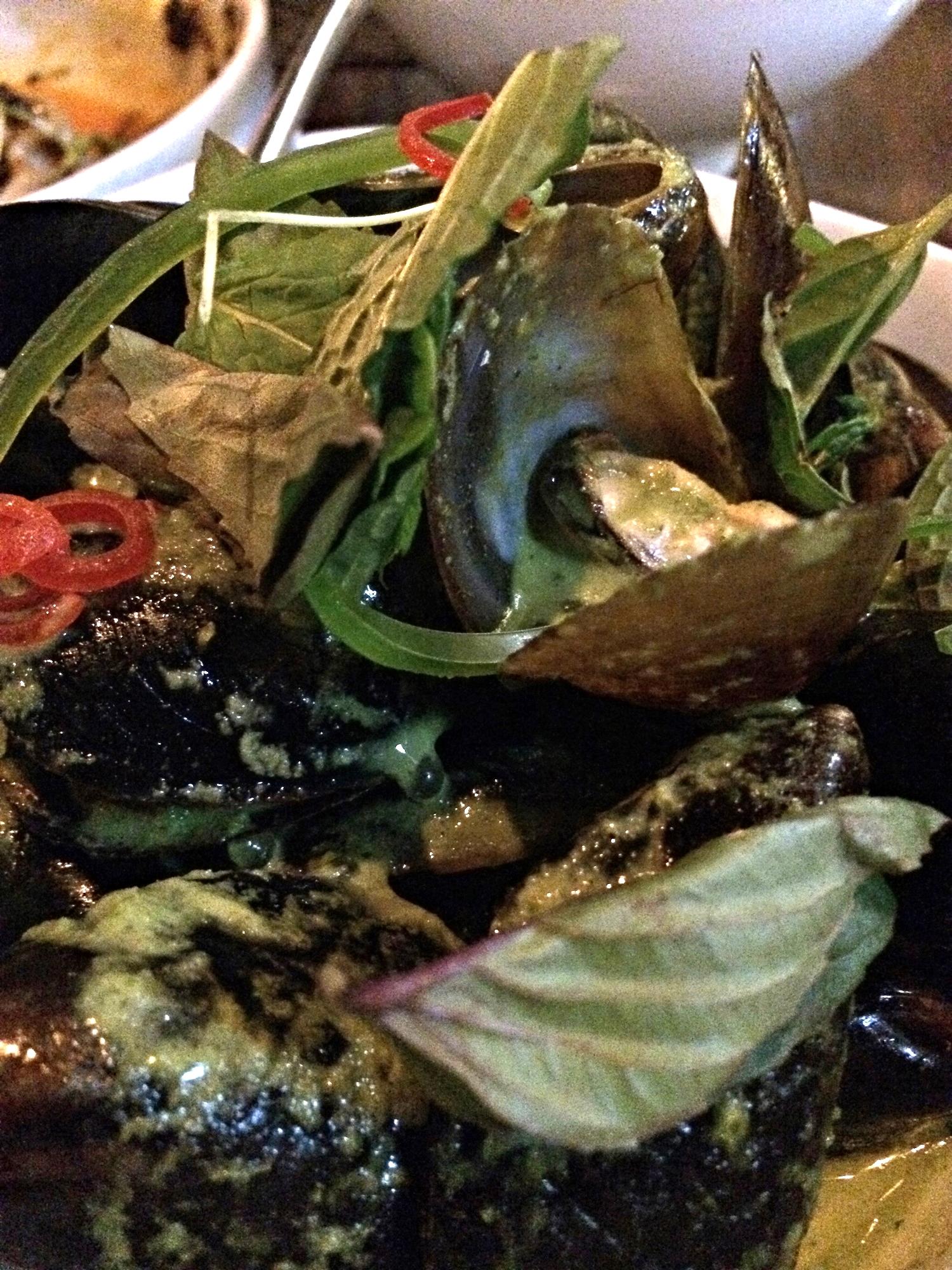 Prince Edward Island mussels (yay, Canada!), jalapeño, kaffir lime, lemograss, coconut, tapioca