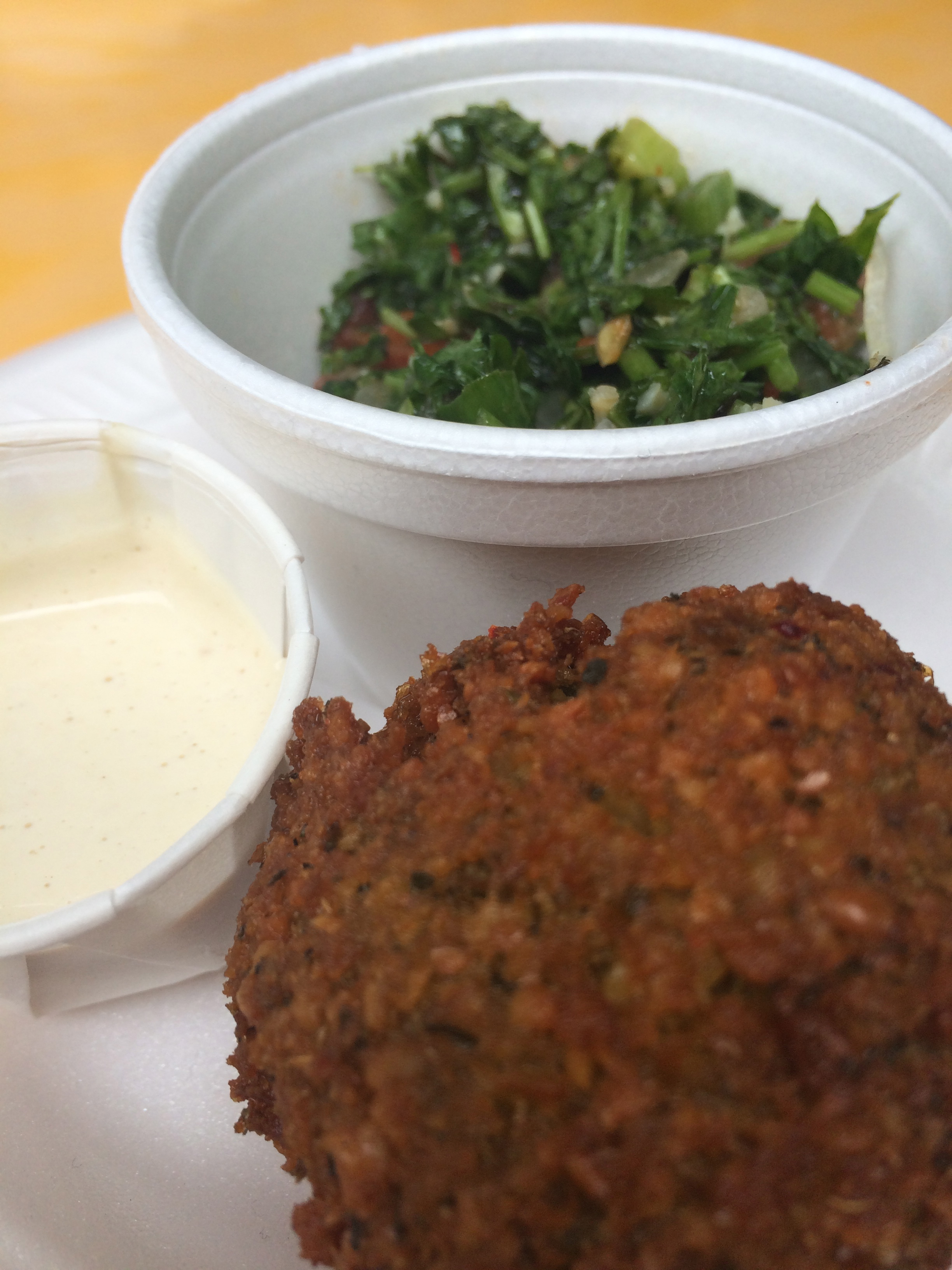 Falafel and Tabbouleh from Moishe's