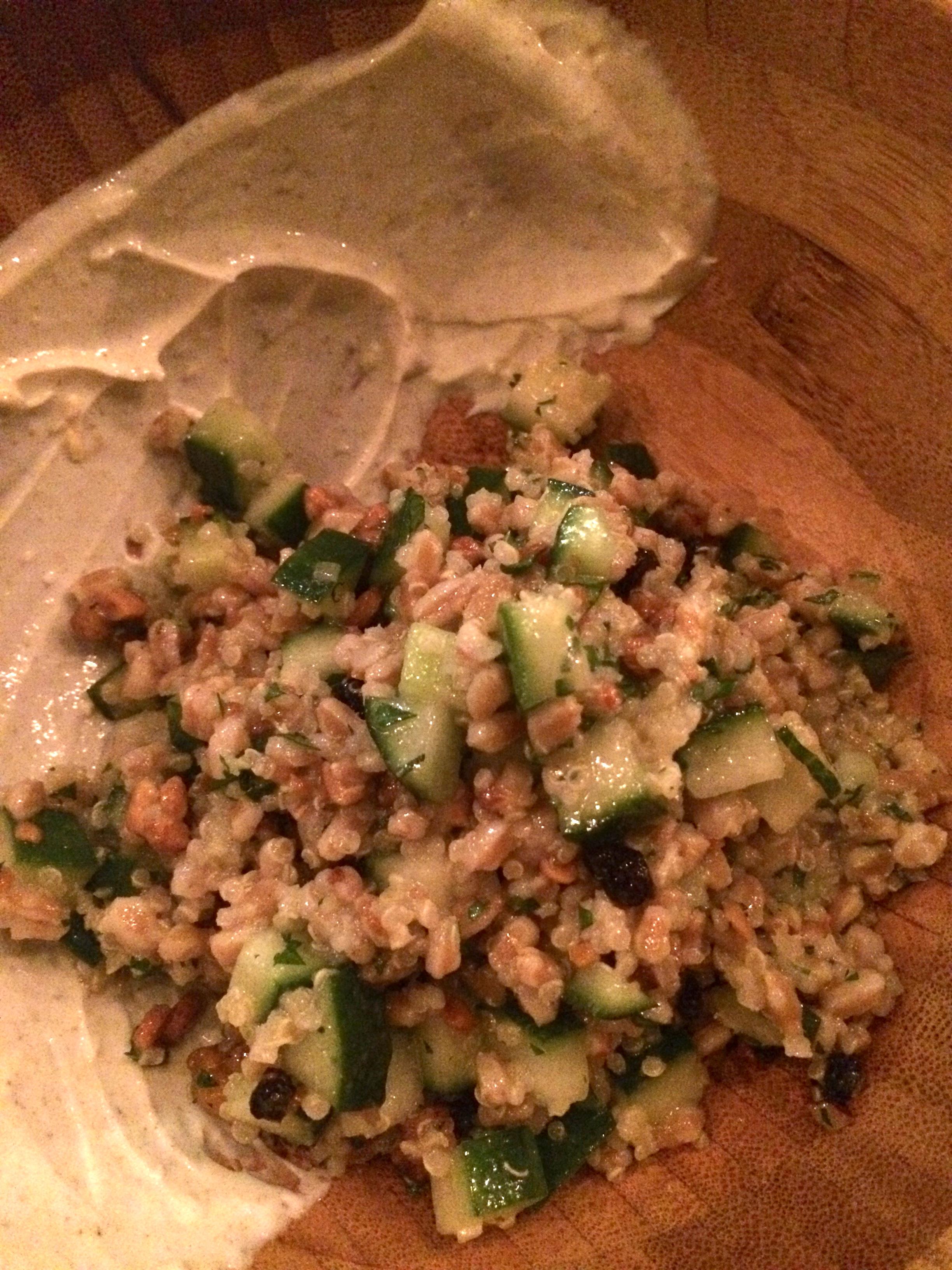 Farro and quinoa salad.