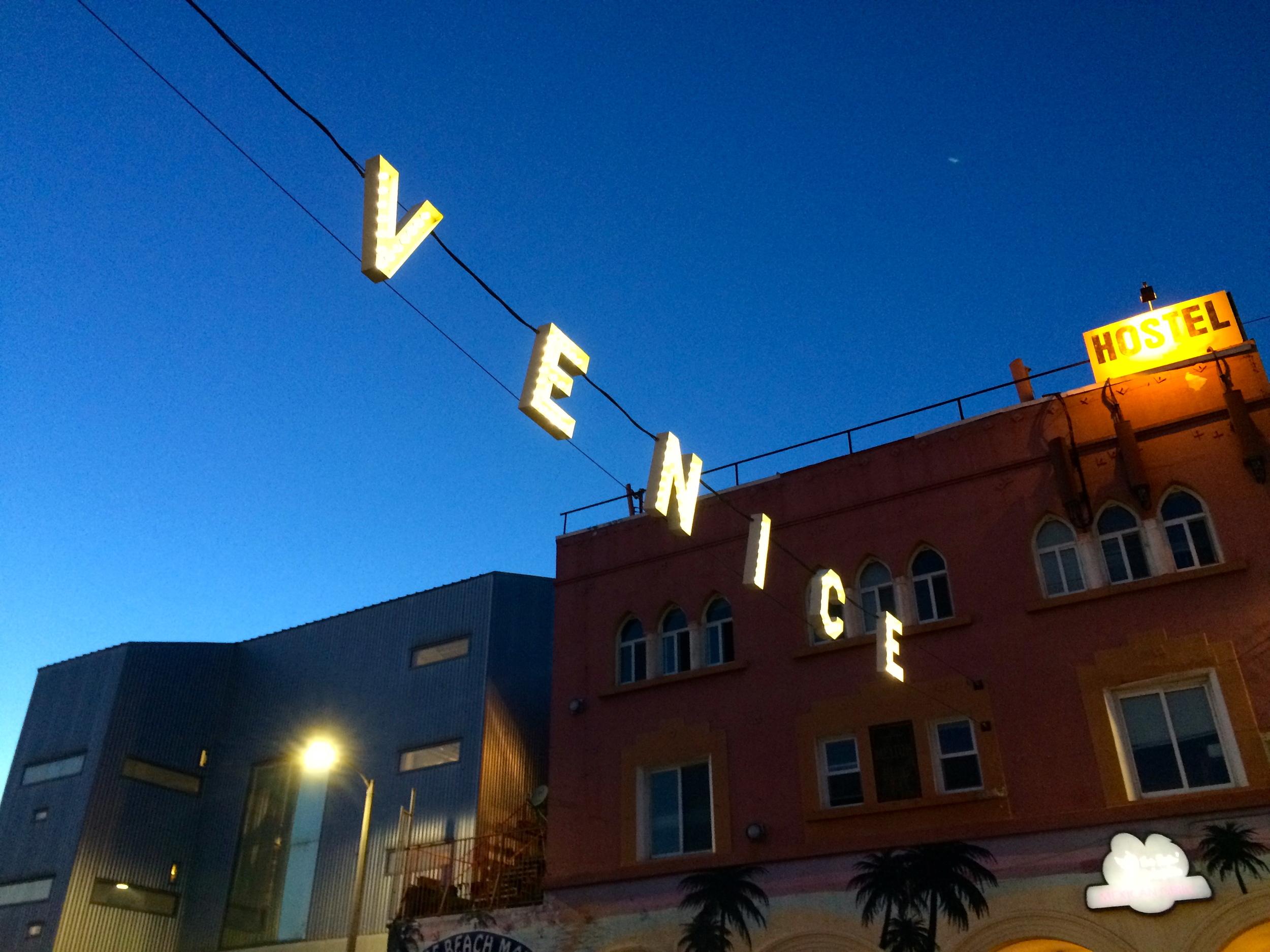 Twinkle, twinkle Venice sign.