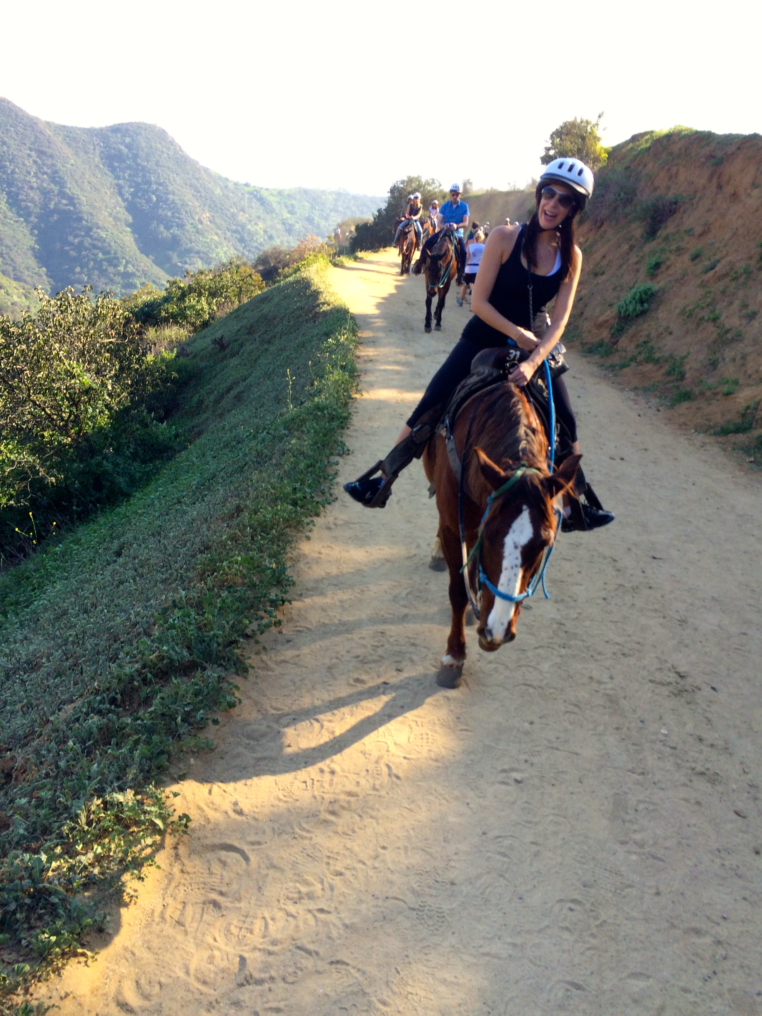 Horseback riding in Griffith Park.