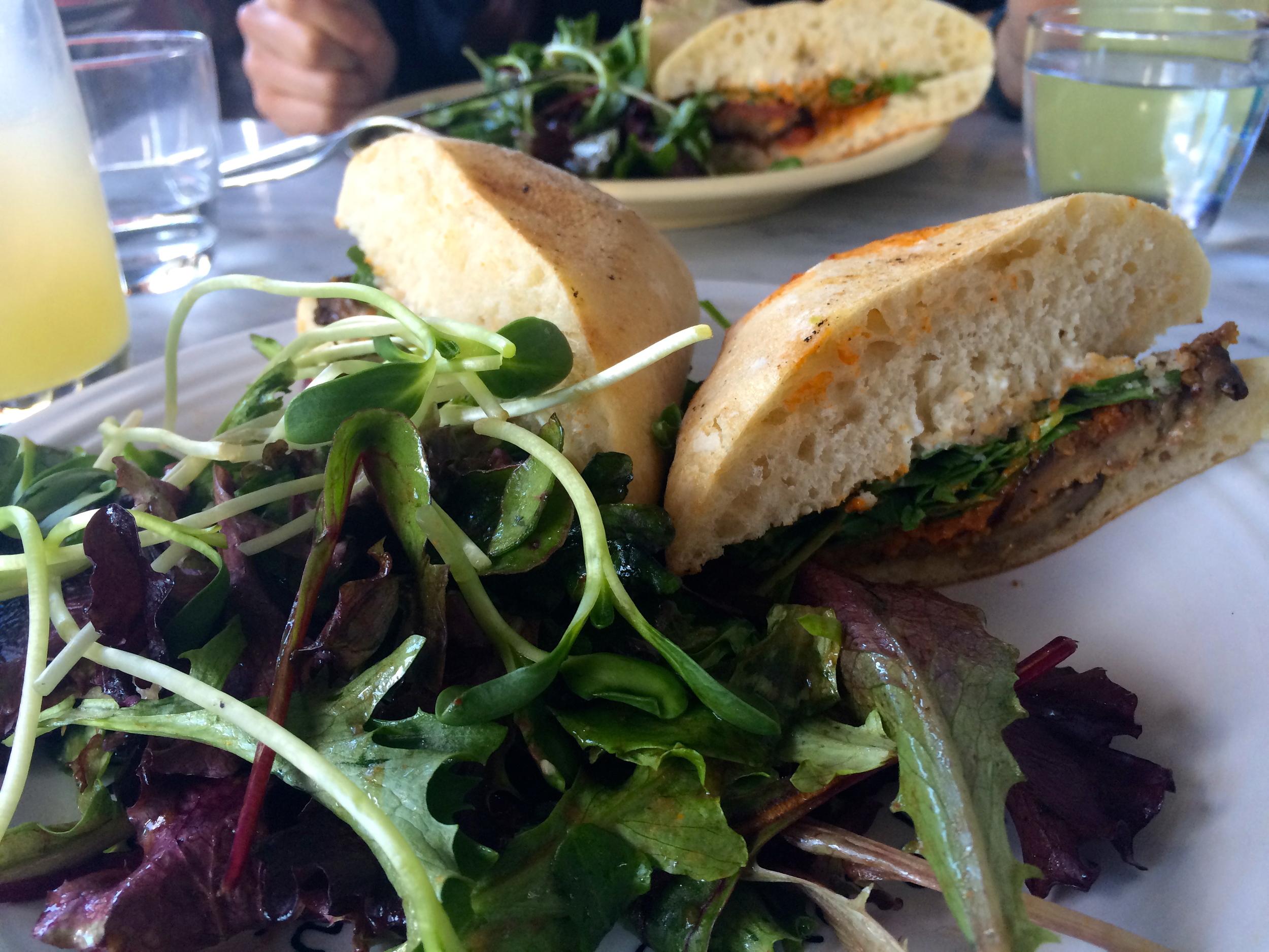 Cafe Gratitude - AWESOME Eggplant Parmesan.