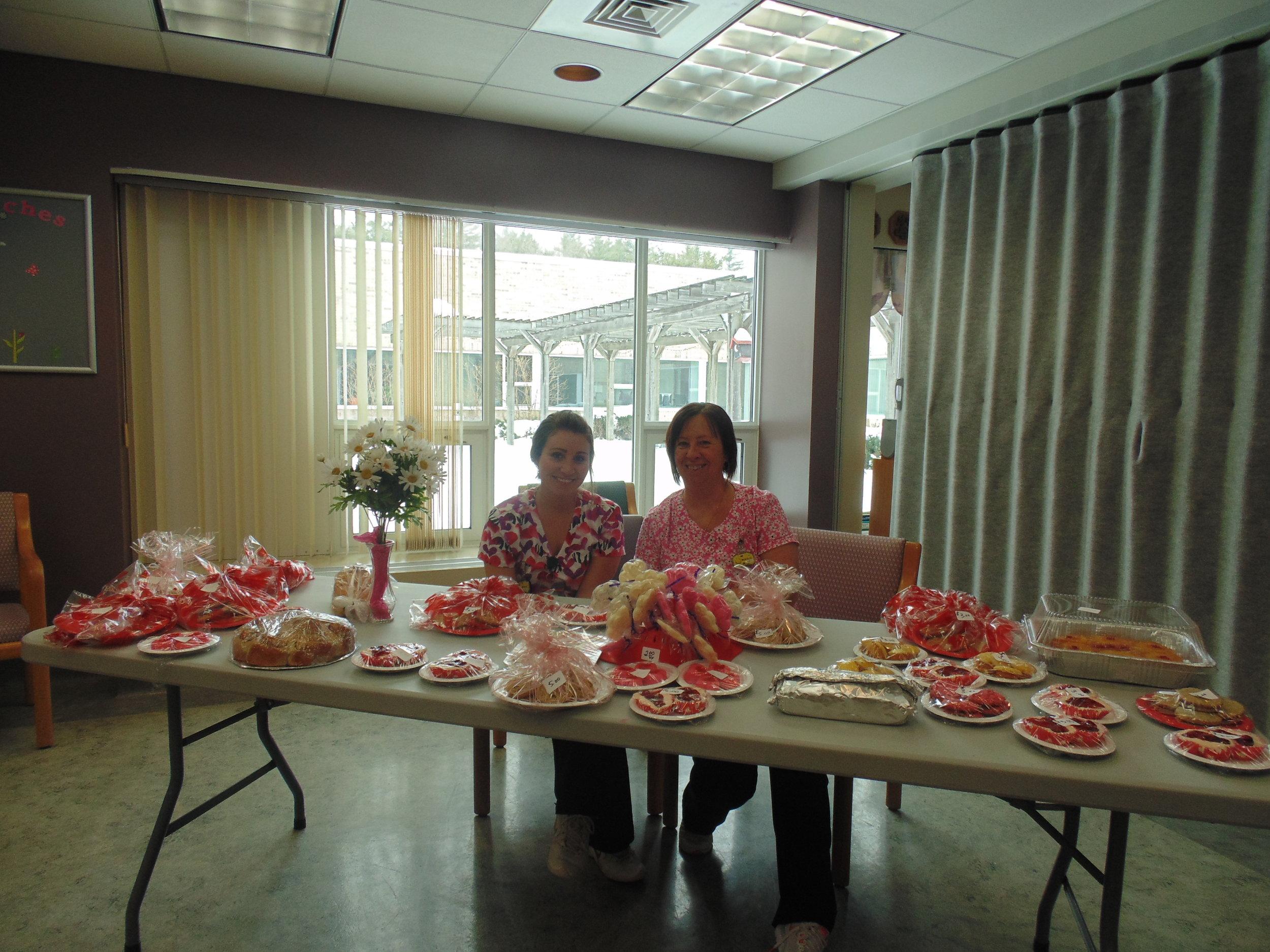 valentines day bake sale staff.JPG