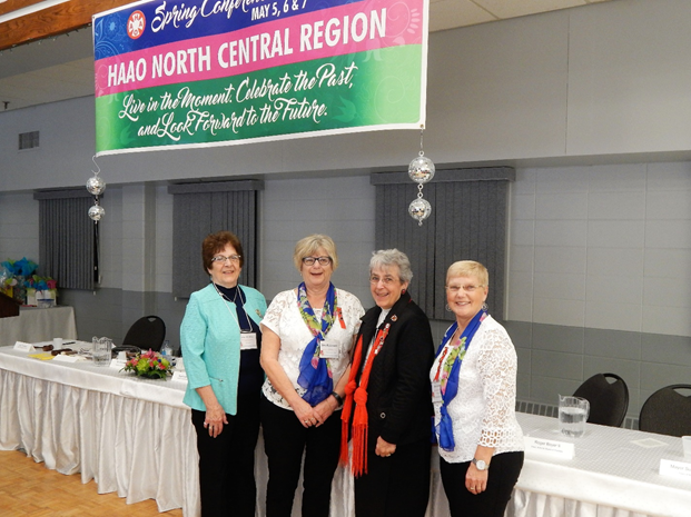 HAAO NC Region Conference May 2017 - From left to right:   Leila Thureson, North Central (NC) Region Past Chair; Bev Robinson President, NSHN Auxiliary; Marion Saunders, HAAO President; Bea Jensen, Chair NC Region.