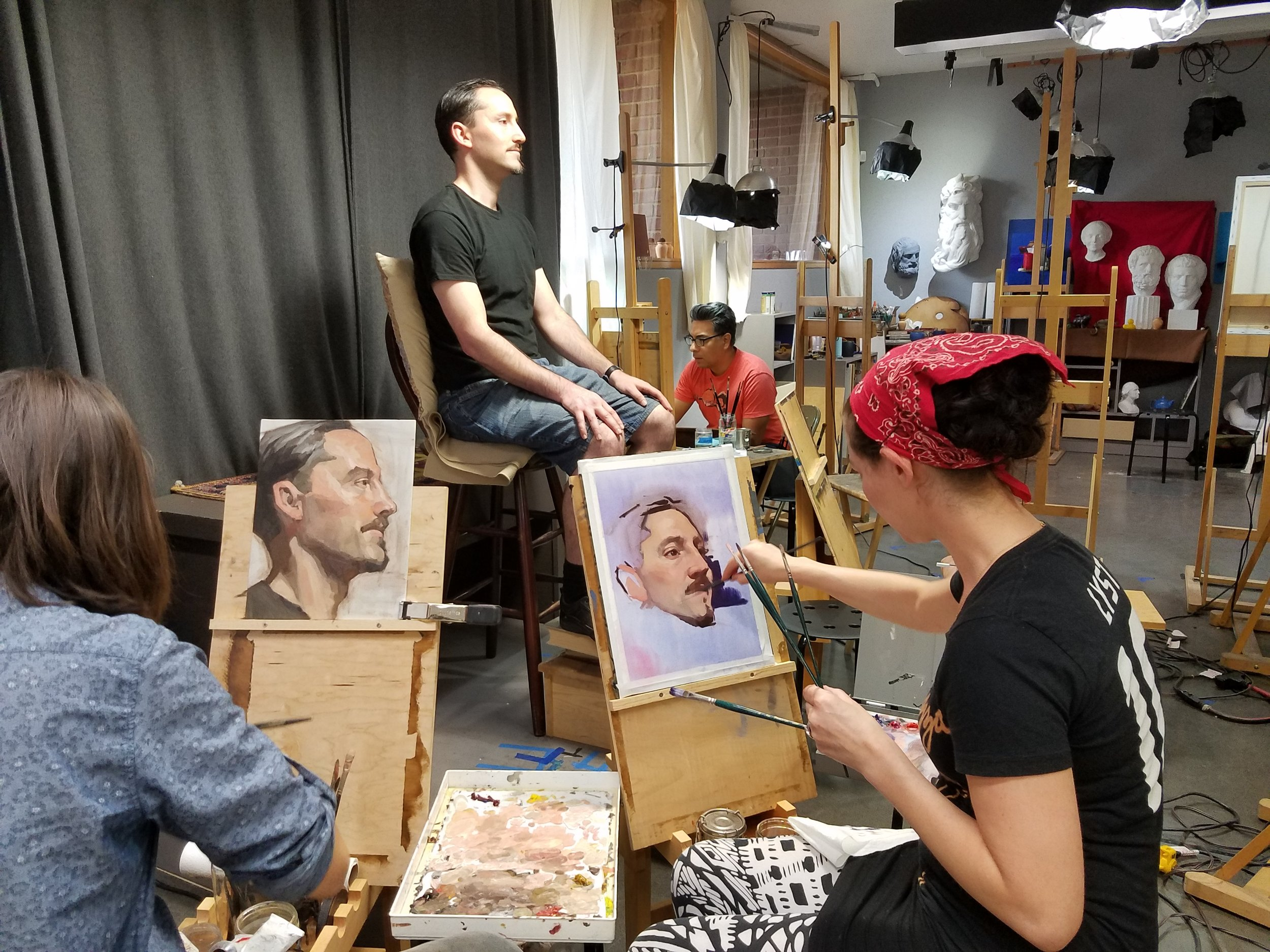 Working with live models in the Atelier