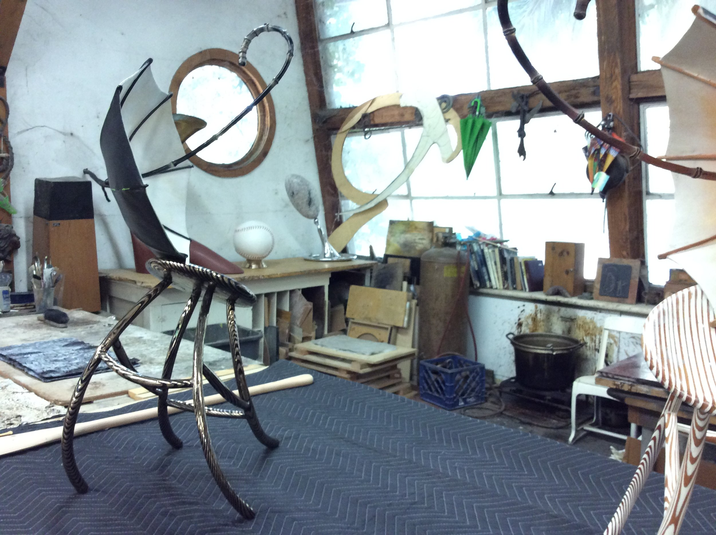 interior of David Middlebrook's Studio