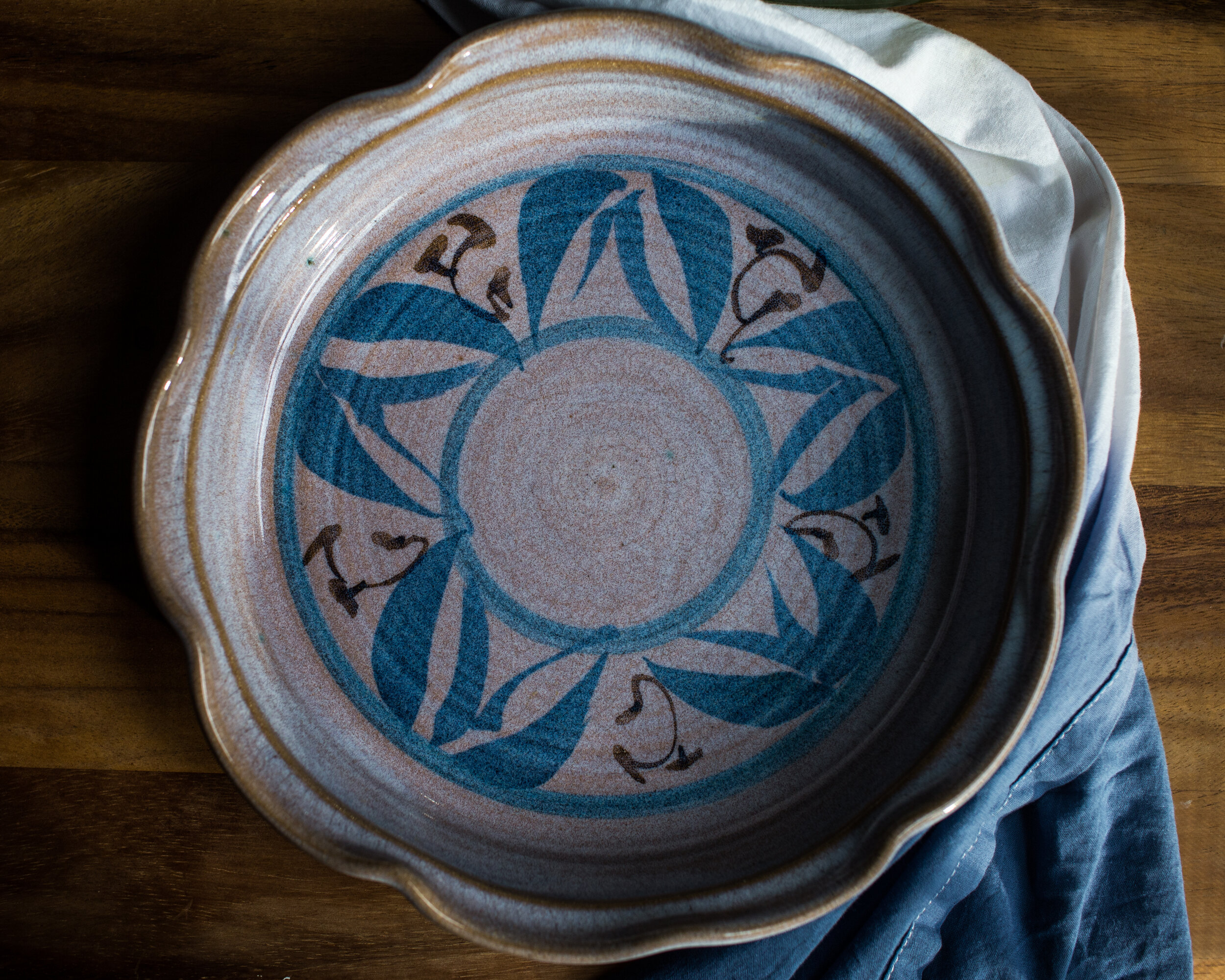 New handmade pottery pie dish to add to my collection. Too pretty not to share!