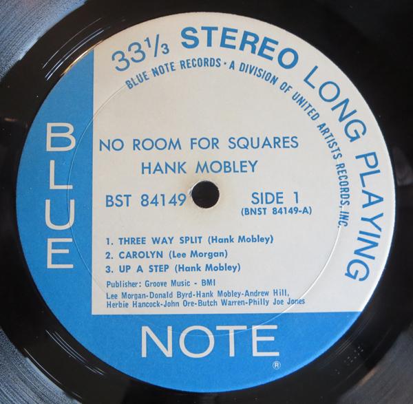 "HANK MOBLEY - ""NO ROOM FOR SQAURES"" - Label"