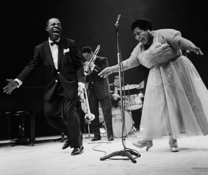 Louis Armstrong & Velma Middleton, 1956. PhotoJohnDrysdale.