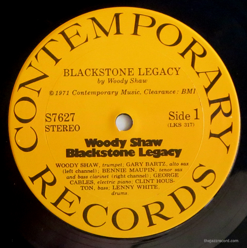 "Woody Shaw - ""Blackstone Legacy"" - Label"