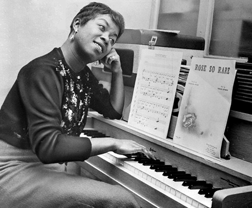 Sarah Vaughan At The Piano (Date & Photo Credit Unknown)