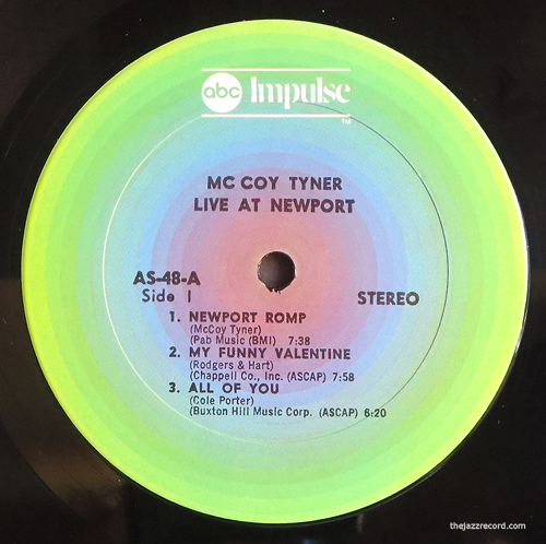 McCoy Tyner - Live At Newport - LP Label