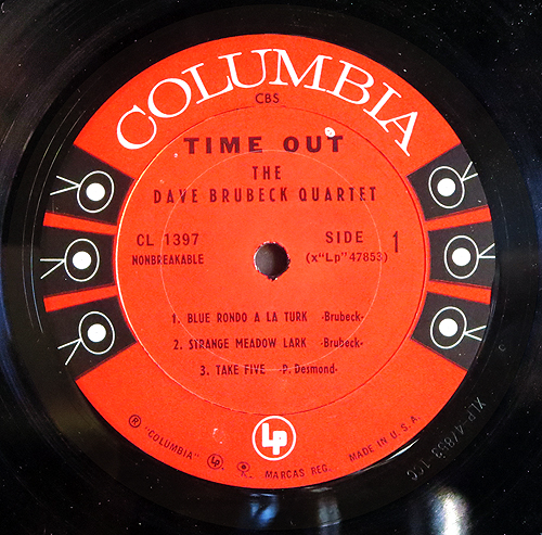 """""""Time Out"""" LP Label"""