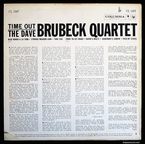 Time OUt - LP Back Cover