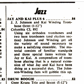 review of the album from the September 29, 1956 issue of Billboard Magazine illustrates their popularity at the time.