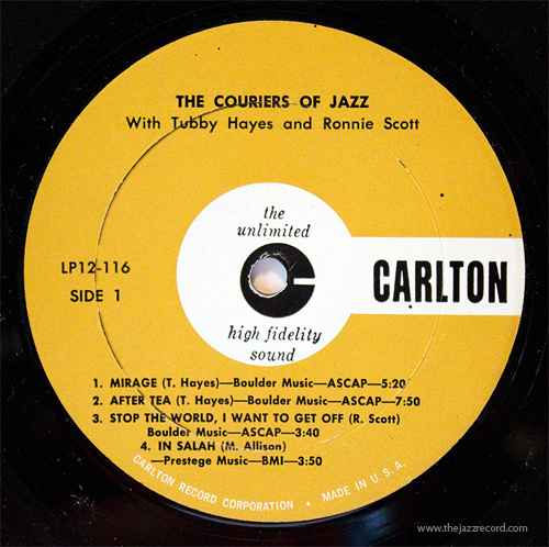 tubby-hayes-ronnie-scott-couriers-of-jazz-label-lp