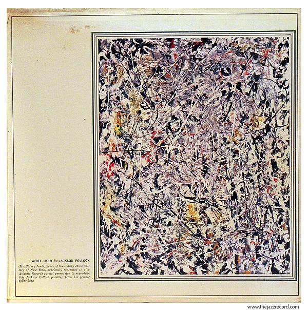 """Jackson Pollack's Full """"White Light"""" Painting On the Inside Gatefold."""
