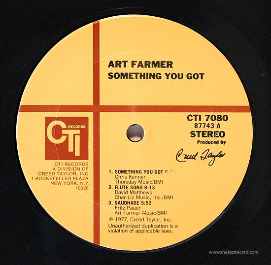 art-farmer-something-you-got-label-lp