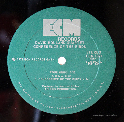 Dave Holland - Conference Of The Birds - Label - Vinyl LP