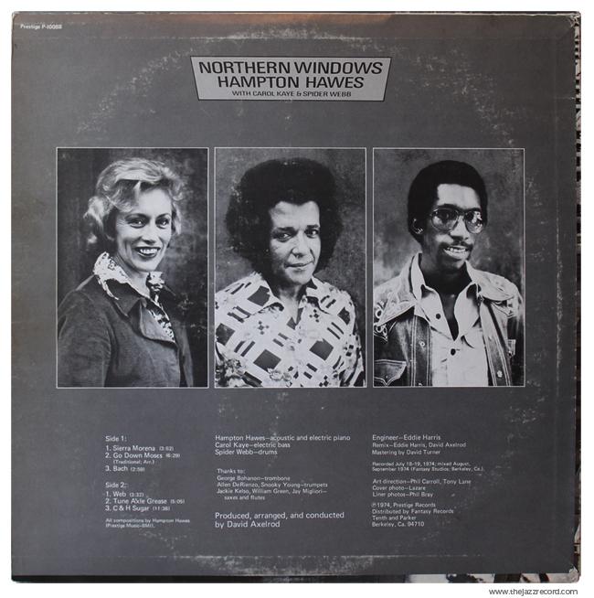 Hampton Hawes - Northern Windows - Back Cover Vinyl
