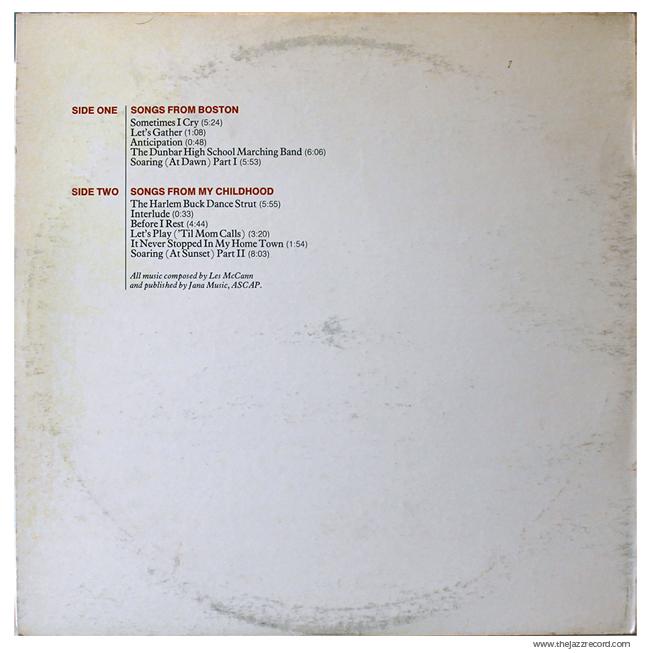Les Mccann - Layers - Vinyl Back Cover