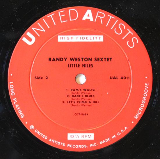 Randy Weston - Little Niles - Vinyl Label