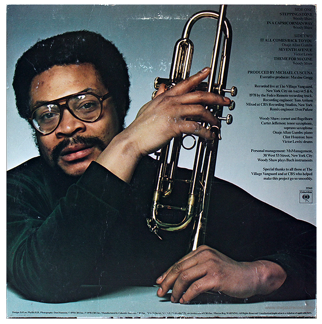 Woody Shaw - Stepping Stones - Vinyl Back Cover