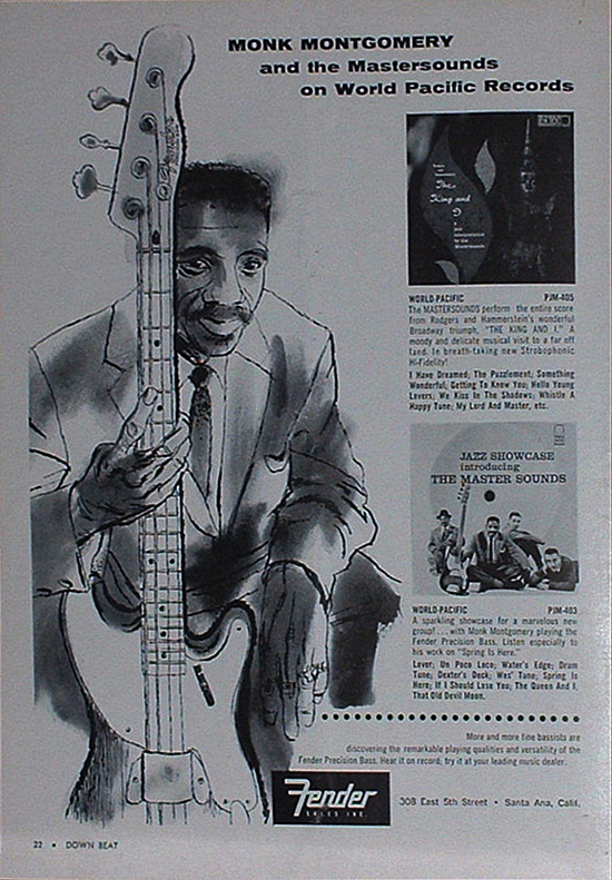 Montgomery Featured In A 1958 Fender Precision Bass Advertisment